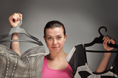 Clothing choice Stock Image