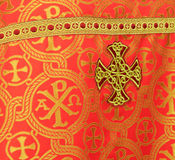 Clothing Christian priest of the rear view. Clothing Christian priest. Detail of the rear view Royalty Free Stock Image