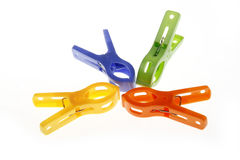 Clothing clips Stock Photo