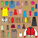 Clothing color icons Stock Image
