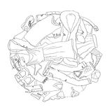 Clothing for coloring book Royalty Free Stock Photos