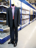 Clothing departament of big market Stock Photos