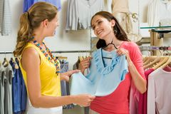 In the clothing department Royalty Free Stock Image