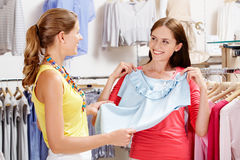 In the clothing department Royalty Free Stock Photos