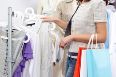 In clothing department Royalty Free Stock Image
