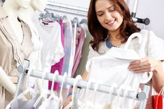 In clothing department Stock Images