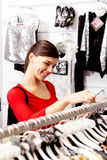 In clothing department Stock Photography