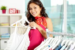 In clothing department Royalty Free Stock Photography