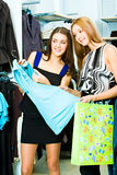 In the clothing department Stock Photos