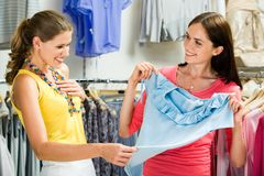 In the clothing department Stock Image