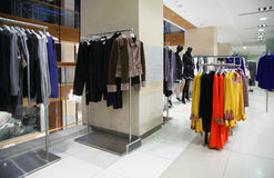 Clothing department Royalty Free Stock Image