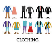 Clothing design Stock Images