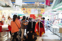 Clothing discount promotions, the women in the purchase. In Shenzhen, China Royalty Free Stock Image