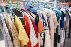 Clothing on display racks, Koh Pha Ngan, Thailand Royalty Free Stock Image