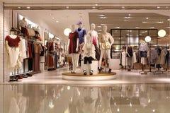 Clothing display window Royalty Free Stock Image