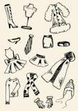 Clothing doodle set Stock Photo