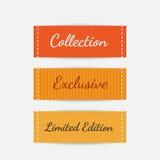 clothing etiketter vektor Royaltyfria Bilder