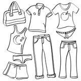 clothing för tillbehör Arkivbilder