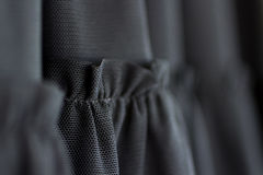 Clothing Fabric Detail of black hem of dress Royalty Free Stock Photography