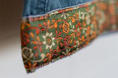 Clothing Fabric Detail flower pattern trim Royalty Free Stock Photography