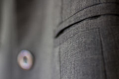Clothing Fabric Detail of freehand suit jacket pocket Royalty Free Stock Image
