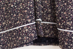 Clothing Fabric Detail Hem of a Shirt Royalty Free Stock Images