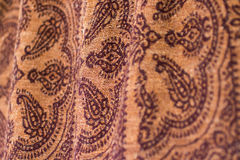 Clothing Fabric Detail Symmetrical Pattern. A close-up detail of fabric detail of a womens skirt Stock Image