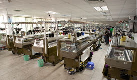 Clothing factory production workshop Royalty Free Stock Images