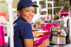 Clothing factory worker stock photo