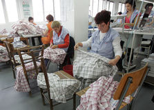 Clothing Factory Workers Stock Images