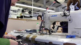 Clothing factory stock footage