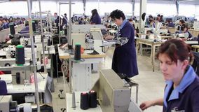 Clothing factory stock video footage
