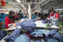 The clothing factory workshop Stock Image