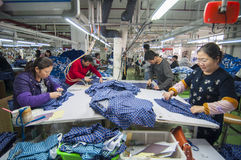 The clothing factory workshop royalty free stock photos