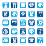Clothing and Fashion collection icons Royalty Free Stock Photography