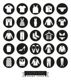 Clothing and Fashion Glyph Icon Set Royalty Free Stock Images