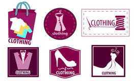 Clothing fashion icon set Royalty Free Stock Photos