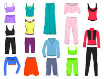Clothing for fitness Royalty Free Stock Image