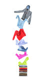 Clothing flies on a pile Stock Images