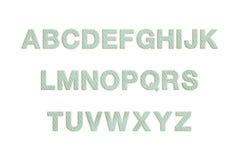 Clothing font Stock Photo