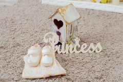 Clothing and footwear for babies Stock Photos