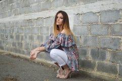 Clothing, Girl, Beauty, Sitting stock image