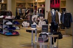 Clothing and handbag store royalty free stock photography