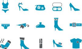 Clothing Icon Set Stock Photography