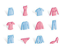 Clothing Icons Royalty Free Stock Images
