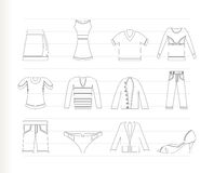 Clothing Icons Stock Image