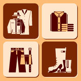 Clothing icons Royalty Free Stock Photography