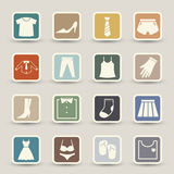 Clothing icons Royalty Free Stock Photos