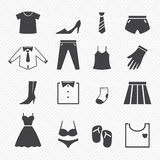 Clothing icons Stock Photo