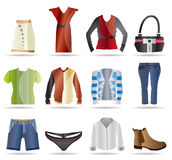 Clothing Icons Stock Photography